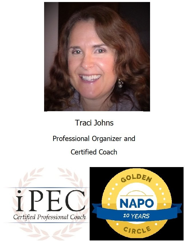 Traci, Johns, Professional, Organizer, Certified, Coach, IPEC, NAPO